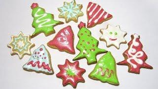 новогоднее песочное печенье / Christmas Cookies / Мастер класс / DIY  Afinka