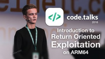 Introduction to Exploitation on ARM64 | My talk at Codetalks 2018