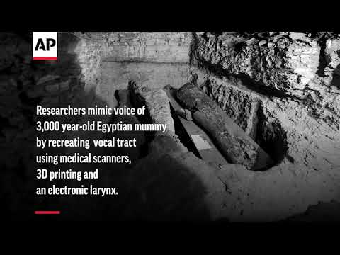 Scientists recreate sound of Egyptian mummy's voice from 3,000 years ago