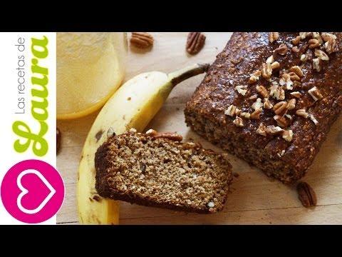 Panque de Plátano y Avena 🍌SALUDABLE y fácil de preparar - Oatmeal Banana Bread Easy Recipe