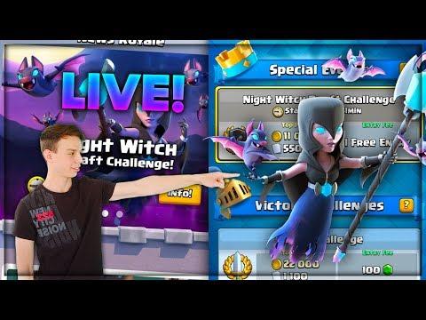 """קלאש רויאל לייב - משיגים את הקלף החדש ה """"Night Witch""""!!!"""