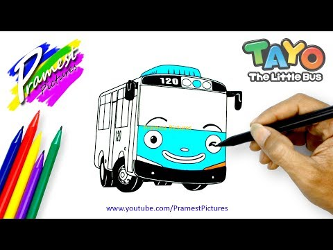 How To Draw TAYO | The Little Bus Coloring Pages For Kids
