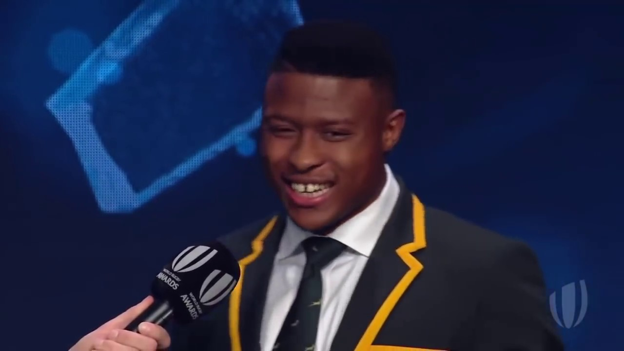 South Africa's Aphiwe Dyanti wins World Rugby Breakthrough Player of the Year 2018