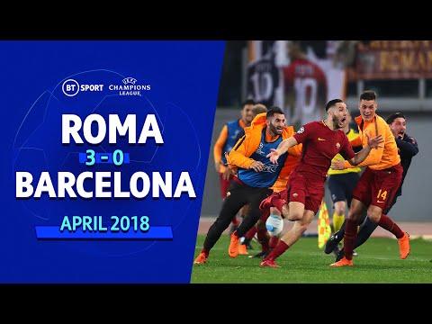 Roma 3-0 Barcelona: Champions League Highlights (Dzeko, De Rossi, Manolas)
