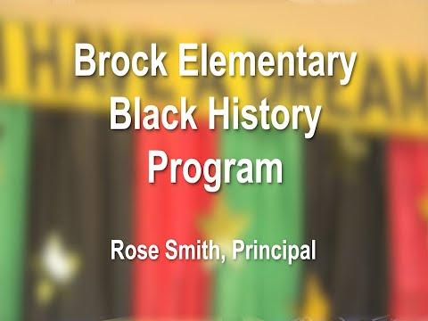 Brock Elementary School Black History Month Program