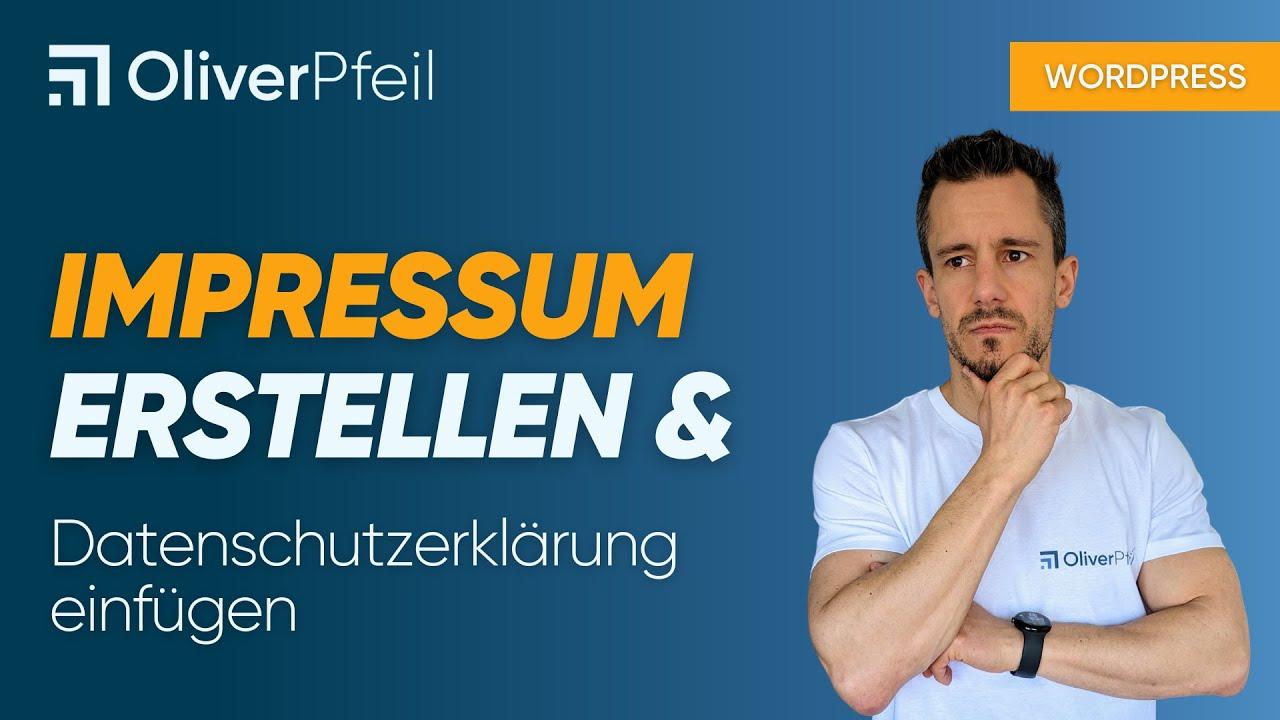 WordPress Impressum erstellen & Datenschutzerklärung ...