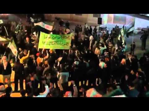 18 12 AL Jizah Daraa أوغاريت الجيزة حوران , مظاهرة مسائية تطالب باسقاط النظام