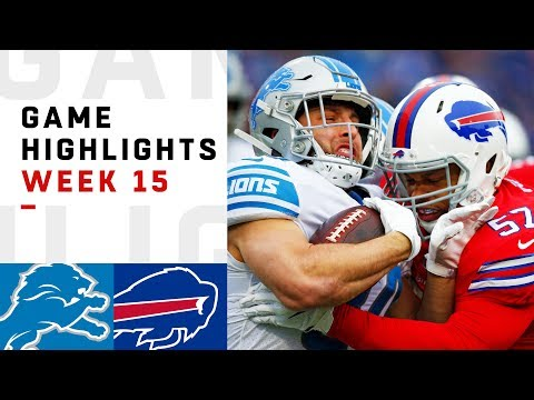 Lions vs. Bills Week 15 Highlights | NFL 2018