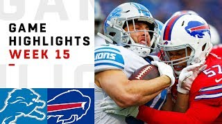 Lions vs. Bills Week 15 Highlights | NFL 2018