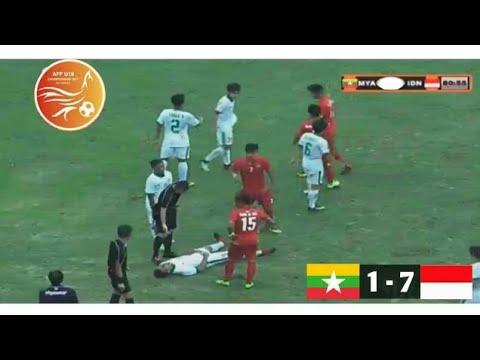 Indonesia vs Myanmar U18 2017 (Detik-detik kekalahan myanmar)