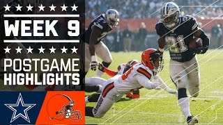 Cowboys vs. Browns | NFL Week 9 Game Highlights