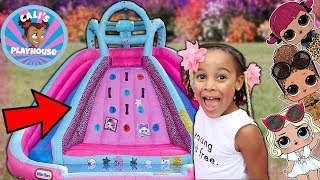 Cali Gets Surprised with new LOL Bouncy Castle | Cali's Playhouse
