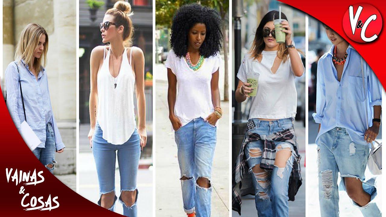 Jeans Rotos Para Mujer Anchos Vaqueros Store 2021