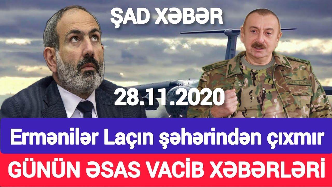 Yekun xəbərlər 28.11.2020 Paşinyana 2 gün vaxt verildi, son xeberler bugun 2020