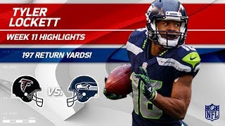 Tyler Lockett Explodes for 197 Return Yards vs. Atlanta! | Falcons vs. Seahawks | Wk 11 Player HLs