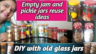 6 Diys With Old Jam And Pickle Jars ब क र ख ल ज म और अच र क बरन क छह तर क स सज कर र य ज कर Youtube