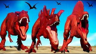 Red Dinosaurs Fighting in Jurassic World Evolution - T-Rex vs I-Rex