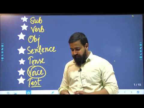 English Crash Course | VOICE - AV & PV | Basic Steps of Grammar | Lecture - 06