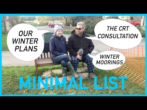 034 - THRUPP CHATS -  WINTER PLANS, WINTER MOORINGS AND THE CRT CONSULTATION SURVEY