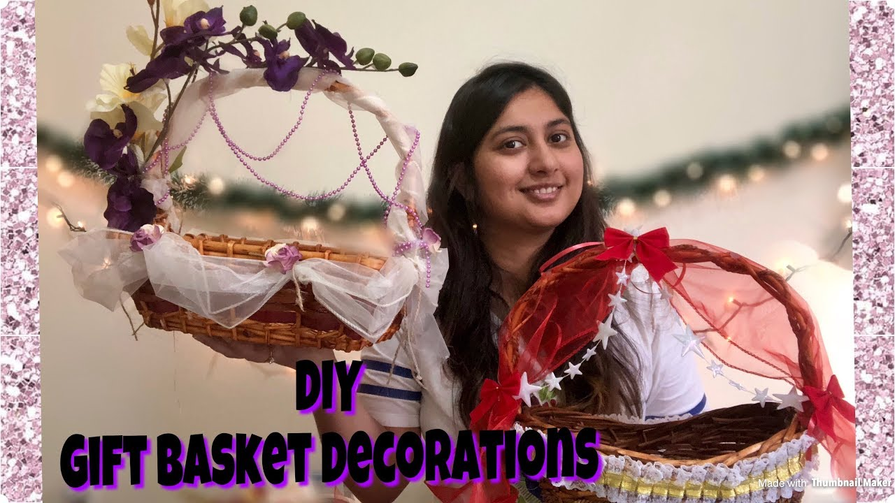 How To Decorate Gift Basket Trousseau Baskets 2 Gift Basket Decorations Diy