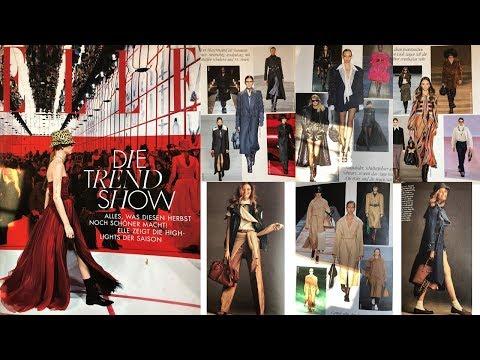 Модные тенденции сезона осень-зима 2019-2020/Листаю приложение модного журнала ELLE 07/2019