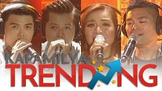Kyla, Jay R, Daryl and Jason perform an RNB rendition of How Deep Is Your Love