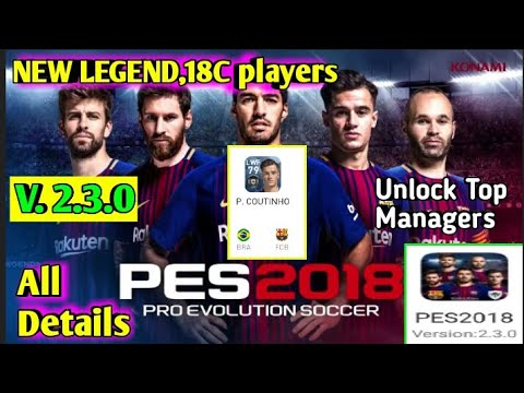 PES 2018 New Minimumpatch For Version 2 3 0 by AkkiHDGamer
