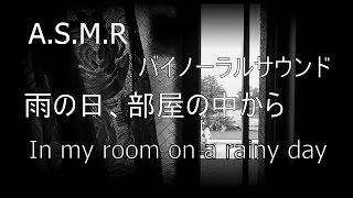 asmr 音フェチ in my room on a rainy day 雨の日の部屋の中から binaural sound