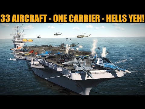 RECORD ATTEMPT: Land 33 Aircraft On A Single Carrier! | DCS WORLD