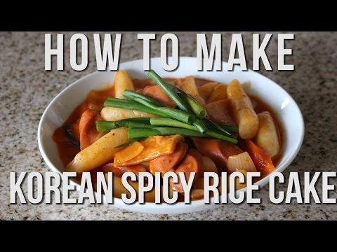 QUICK + EASY KOREAN RECIPES | SPICY RICE CAKE | DDUKBOKKI | TTEOKBOKKI | 떡볶이