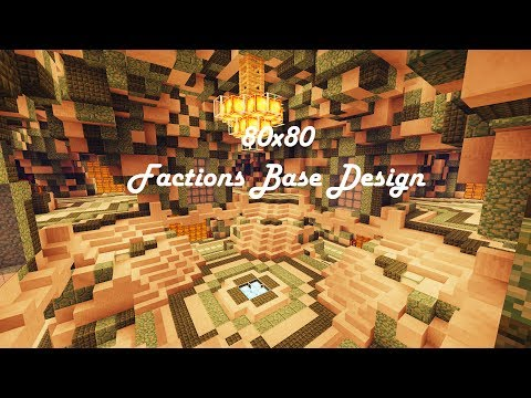 80x80 Factions Base Tour (Minecraft Faction Interior Design Ep 11) W/ Download