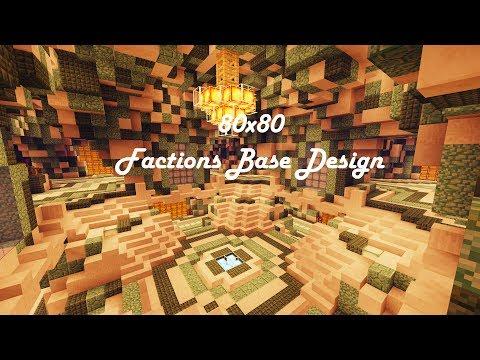 80x80 Factions Base Tour (Minecraft Faction Interior Design Ep 11) W/ Download