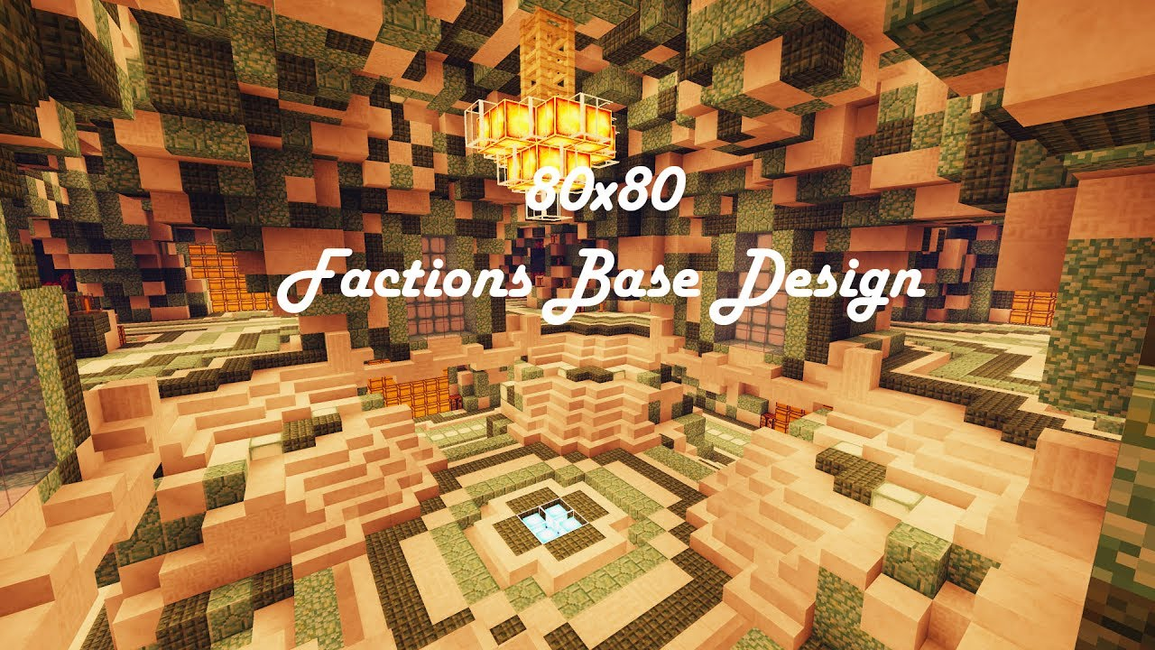 80x80 Factions Base Tour Minecraft Faction Interior Design Ep 11 W
