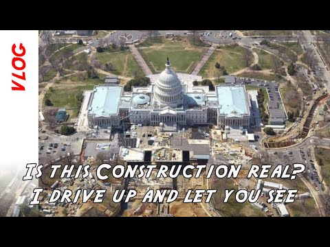 Is there a massive construction project ongoing at the US Capitol?