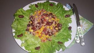 Салат с тунцом по французски