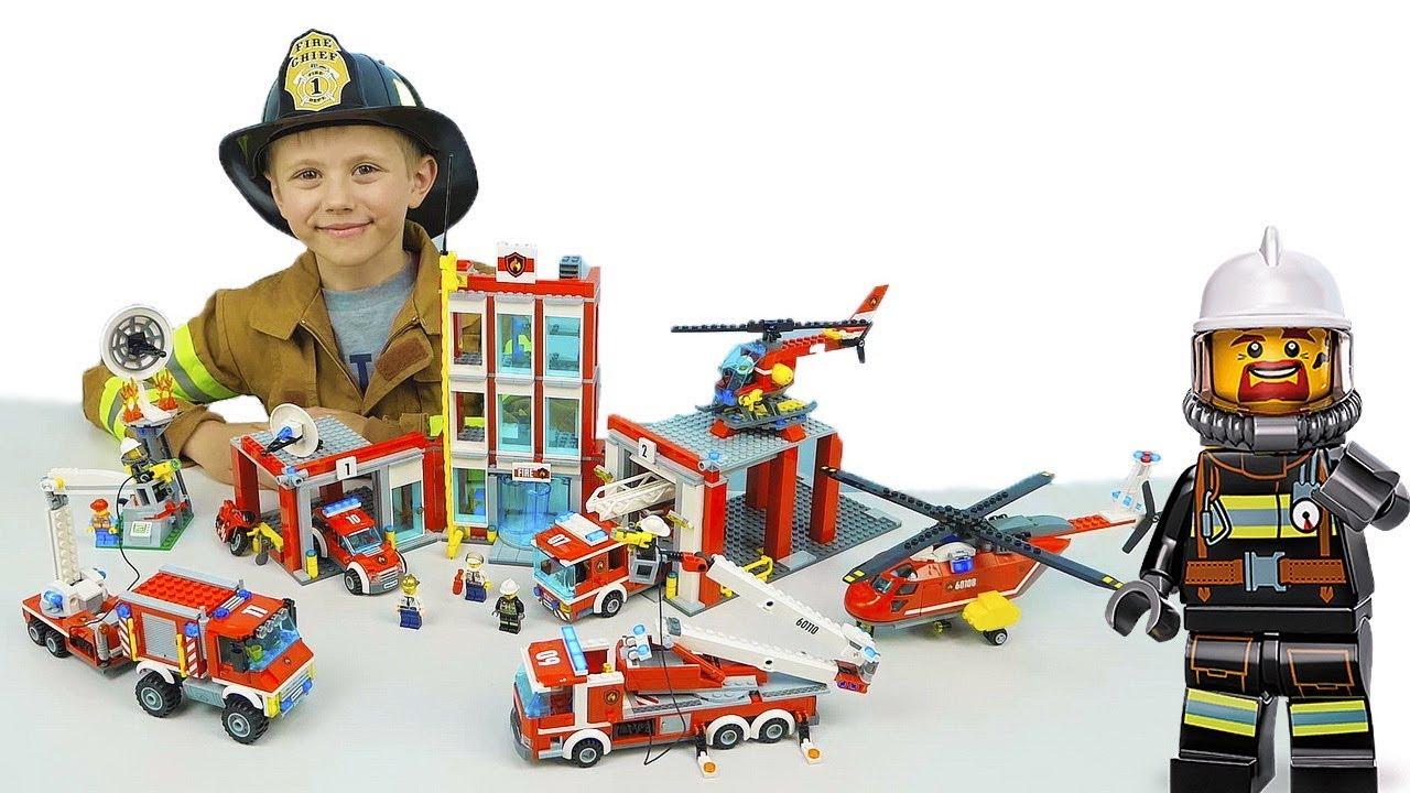 ЛЕГО СИТИ ПОЖАРНЫЕ и Даник  - Для детей Lego City 60111