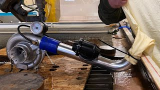Spool a Turbocharger with a 60,000 PSI Waterjet   Absolutely Terrifying