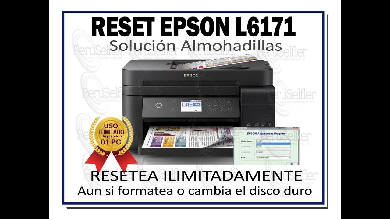Reset Epson L6161,L6171,L6190,L6191 Adjustment Program (Probado 100 %)