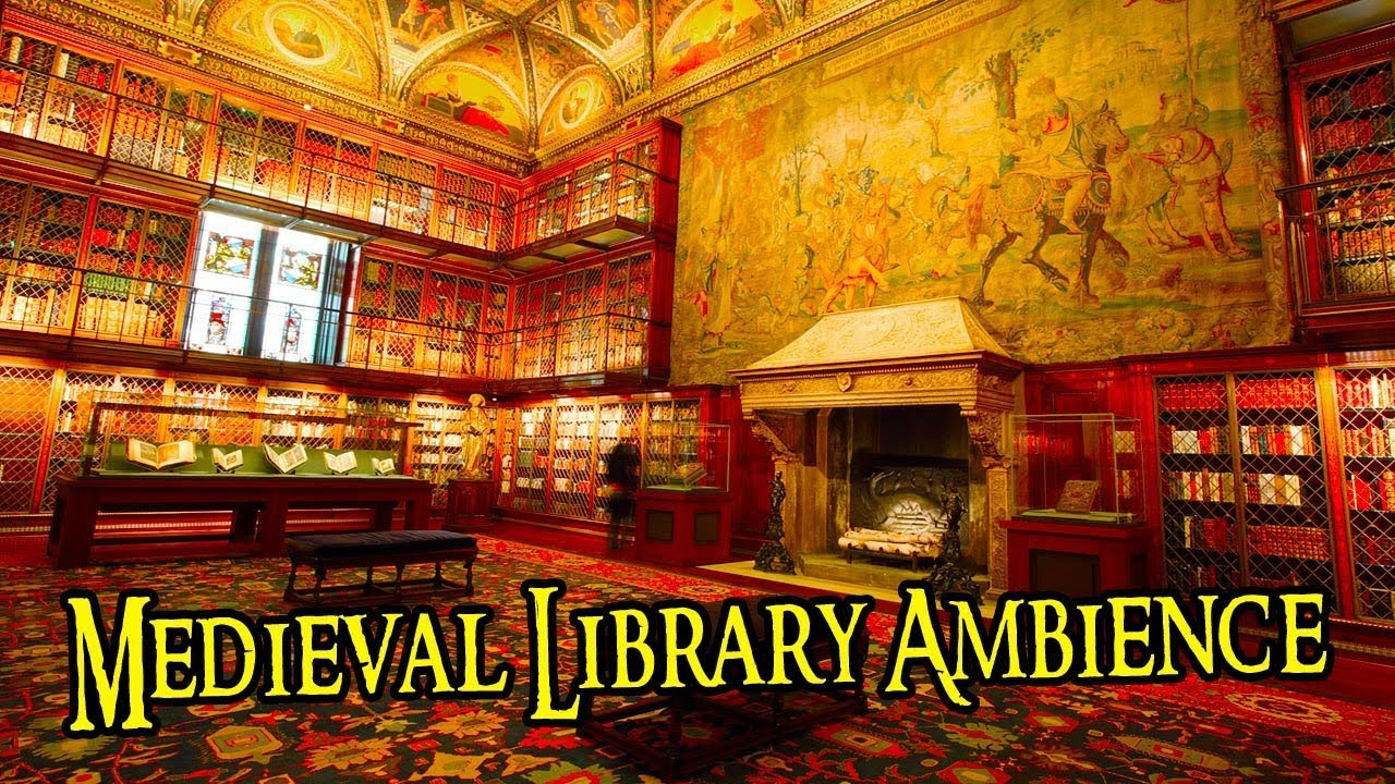 Medieval Library Sounds | Study Ambience Sounds