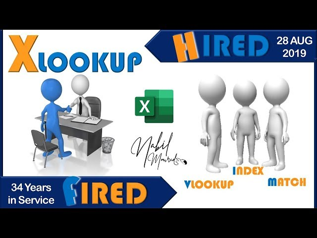 VLookup Fired...XLookup Hired - The New Giant Is Here