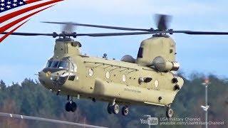 アメリカ陸軍第1航空騎兵旅団のCH-47Fチヌーク大型輸送ヘリコプター。 T...