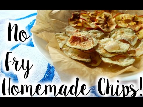 Easy 10 Minute Potato Chips Recipe + How to Make Apple Chips