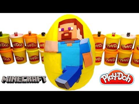 minecraft sürpriz yumurta oyun hamuru  minecraft oyuncakları yenilmezler