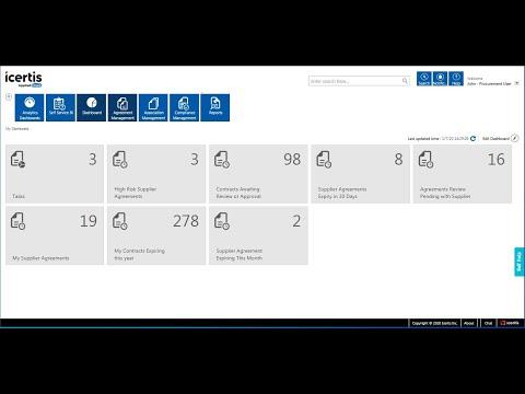 Icertis Contract Management Platform Demo