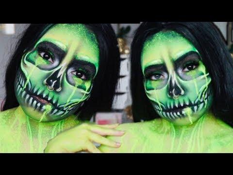 Drippin' Acid Neon Skull   Halloween Tutorial thumbnail