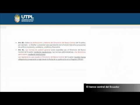 UTPL EL BANCO CENTRAL DEL ECUADOR [(ÁREA ADMINISTRATIVA)(LEGISLACIÓN MONETARIA Y BANCARIA)]
