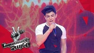 Karen Ughuryan Sings Thinking Out Loud Blind Auditions The Voice Of Armenia Season 4
