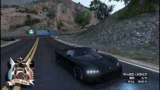 【実況プレイ】GTA5 オンライン 悪意に満ちた自作レースでガソリンタンクとジャンプ台を設置しまくってみた thumbnail