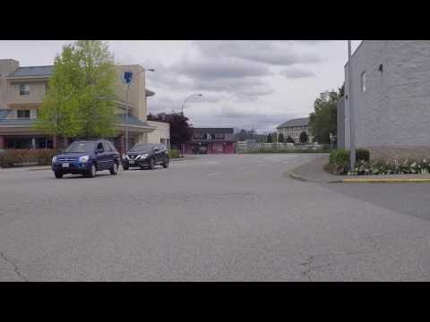 Langley British Columbia Canada - Driving Around Downtown (City Centre) & Residential Area