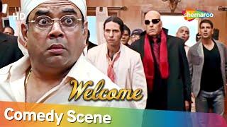 फस गए परेश रावल डॉन के बीच   Best Of Comedy Scenes   Movie WELCOME   Paresh Rawal - Akshay Kumar